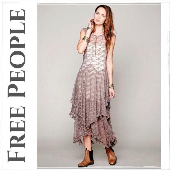 f61a448c439c Free People Dresses | Taupe French Courtship Slip Dress | Poshmark